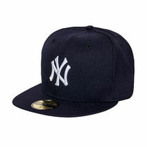 New Era New York Yankees MLB Fitted Men's Hat Navy 70065347 - £28.44 GBP
