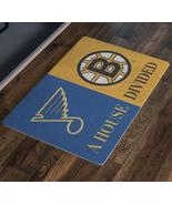 Boston Bruins St Louis Blues Hockey Man Cave Entryway Welcome Doormat - $43.00