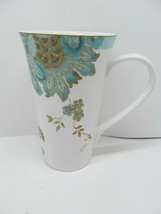 222 Fifth Eliza Spring Turquoise Tall Latte Coffee Mug Excellent Condition - $12.73