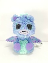 Hatchimal Surprise Peacat Blue Purple Teal Wings Working Light up eyes Used - $12.86