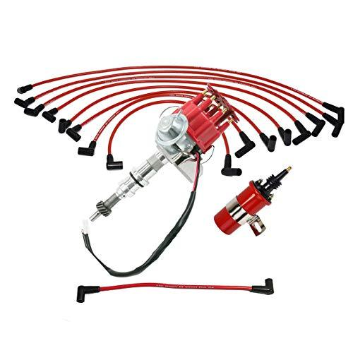 A-Team Performance Ready 2 Run Distributor, 8.0mm Spark Plug Wires, 45k Volts Ca