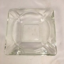 "Vintage Anchor Hocking 6"" Square Clear Glass Ashtray  - $24.74"