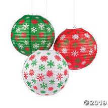 Christmas Snowflake Hanging Paper Lanterns - $12.49