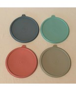 Tupperware Stack A Bowl Lot of 4 Replacement Lids Seal Pastel Color 227-... - $21.99
