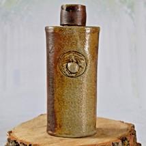 Vintage Stoneware Bottle with Cap Eagle Logo Clover Stamp - $12.73