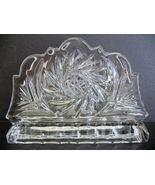 ABP Pinwheel Design ~ Crystal Cut Glass Napkin or Mail Holder  - $22.00