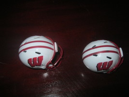 """(2) Ncaa Wisconsin Badgers Pocket Pro Football Helmet 2"""" Size Riddell Lot - $8.86"""