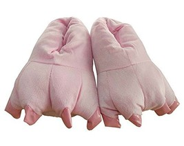 Funny Dinosaur Paw Slippers for Girls, 5-9 Yrs, PINK