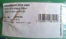 "1 AQUATHERM 2514144 GREEN PIPE 14"" PLASTIC END CAP 355mm image 3"