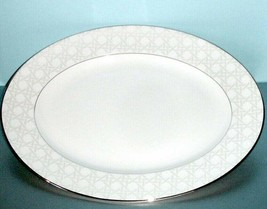 "Kate Spade New York Carling Way  Platter 13"" Cane Border Made USA New In... - $78.90"