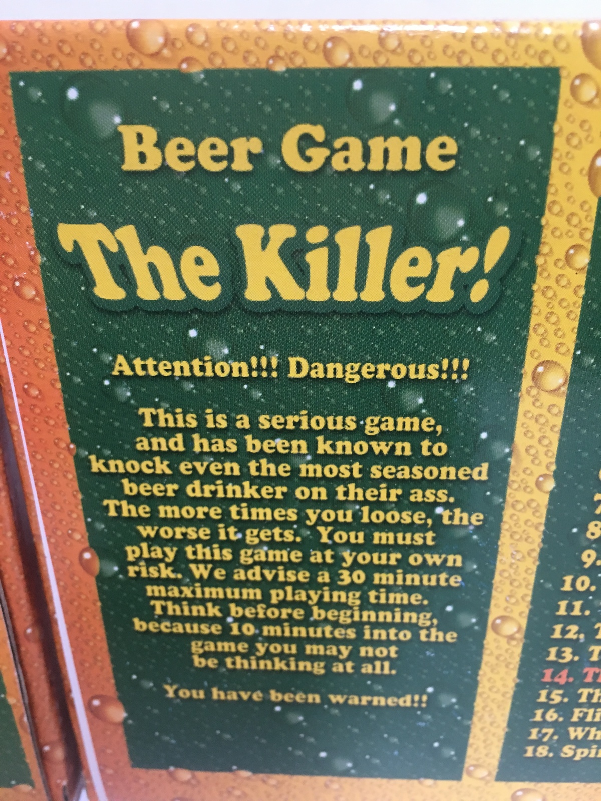 Beer Games The Striptease and The Killer #9 #14 ADULTS Drinking Games image 9