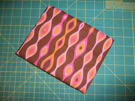 1 Yard Fabric Traditions 100% Cotton Brown Pink Orange Geometric - €6,93 EUR