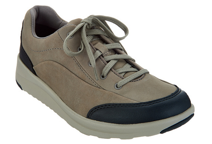 Clarks Women's Leather Lace-up Walking Shoes - Darleigh Cora Sage 6M