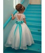 Marvelous Organza & Lace Jewel Neckline Ball Gown Flower Girl Dresses Wi... - $21.00+