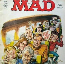 MAD Magazine July 1975 No 176 Airport Movie Fun Parody Humor Comic Satire Humor - $9.21