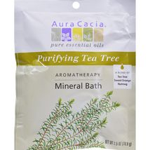 Aura Cacia Aromatherapy Mineral Bath Tea Tree Harvest - 2.5 oz - Case of 6 - $18.99