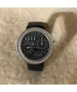 Elle Dual Time Watch with Swarovski Crystals - $49.49