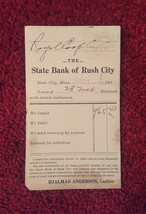 Set of 4: Bank of Rush City Bank Deposit Cards/Mailing Cards (1913) image 3
