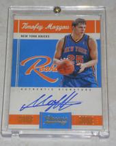 2010-11 Panini Classics #180 Timofey Mozgov New York Knicks Auto Basketb... - $9.99