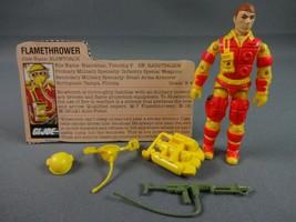 Vintage GI JOE Action Figure 1984 Blowtorch 100% w Peach File Card - $15.05