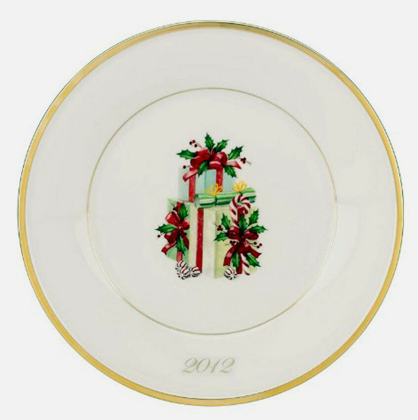 Lenox Holiday Gift Accent Plate 2012 Collectors Annual Limited Edt Numbered New