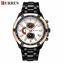 CURREN  Men   Fashion Casual Watch Male Stainless Steel Waterproof  Wristwatch R - $38.38