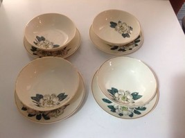 4 Homer Laughlin Saucers and 4 Bowls - $57.83