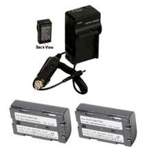 Two 2 Batteries + Charger For Panasonic PV-DV952 PV-DV953 PV-GS2 PV-GS9 PV-GS12S - $37.79
