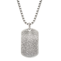 Steve Madden  Stainless Steel Textured Dog tag ... - $17.59