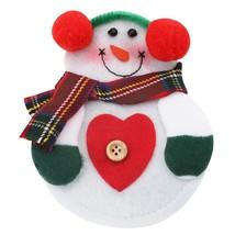 12pcs Christmas Snowman Cutlery Holder(COLORMIX HEART) - $14.83