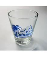 Vintage Catalina Island California Clear Glass Souvenir Bar Shot Glass - $12.99
