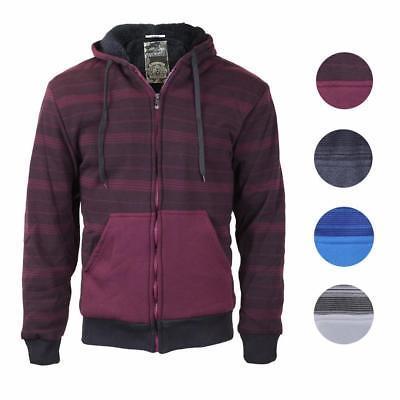 Marx & Dutch Men's Two Tone Sherpa Lined Fleece Zip Up Hoodie Sweater Jacket