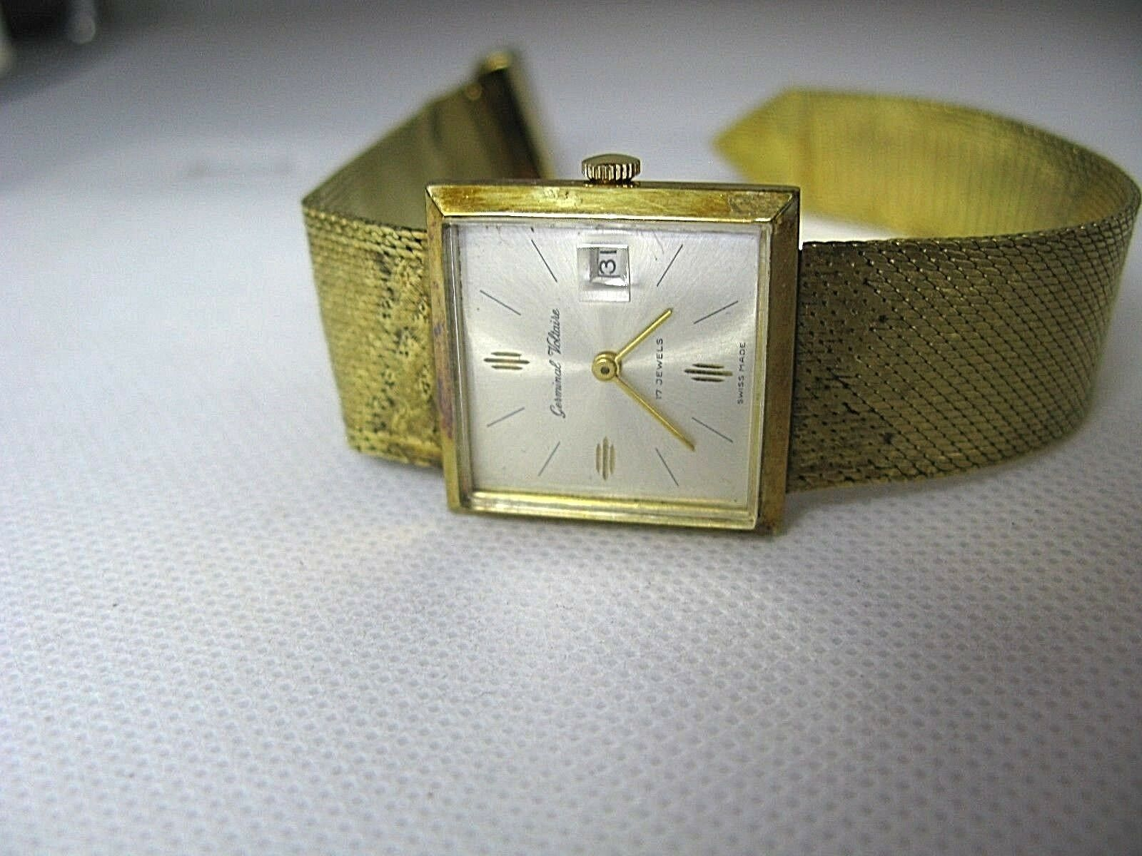 germinal Voltaire 17 Jewels Swiss made Vintage Watch good Running Condition