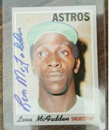 1970 TOPPS SIGNED 7TH SERIES HIGH # AUTO CARD LEON MCFADDEN HOUSTON ASTR... - $59.99