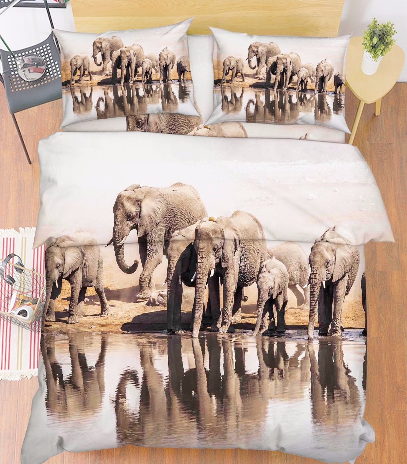 Primary image for 3D Elephants 017 Bed Pillowcases Quilt Duvet Cover Set Single Queen King Size AU