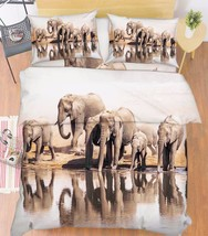 3D Elephants 017 Bed Pillowcases Quilt Duvet Cover Set Single Queen King... - $64.32+