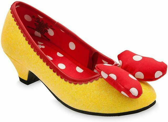 Minnie Mouse Costume Shoes Yellow Red 2-3 - $33.66