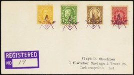 1930 Mason, LA UNLISTED Mason Fancy Cancel Registered Cover - Stuart Katz - $400.00