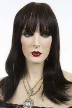 Ash Black Brunette Medium Premium Remy Human Hair Monofilament Straight Wigs - $288.30