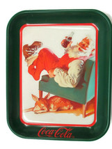 Coca-Cola Reproduction Tray Santa with Deer Sundblom 1959 Issued 1989-1991 - $7.43