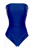Été J Crew One Piece Swimsuit C6368 Navy Large - $55.19