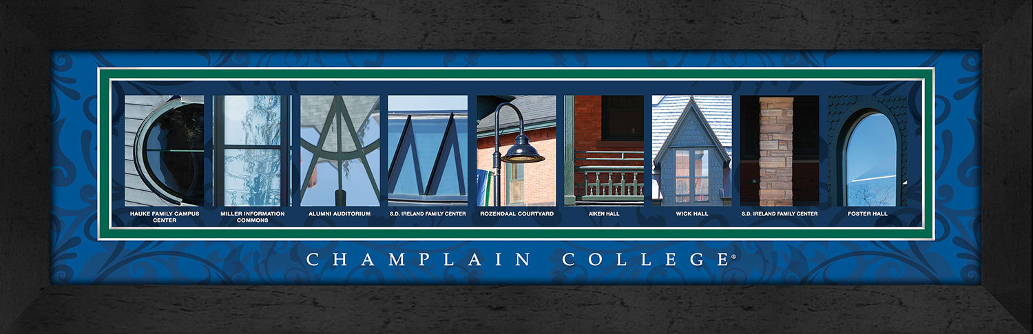 Primary image for Champlain College Officially Licensed Framed Campus Letter Art