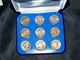 Susan B. Anthony Set of 9 One Dollar Coins AA19-CND6036 image 1