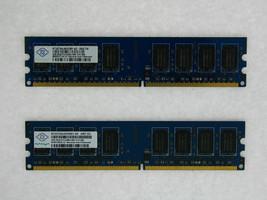 NT2GT64U8HD0BY-AD 4GB 2X2GB DDR2 PC6400 800MHz PC2-6400 240pin DIMM Nanya