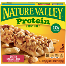 Nature Valley Protein Chewy Granola Bars, Salted Caramel Nut, 5 Ct, - $6.00