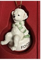 Lenox Holiday FURRY FRIENDS Dog Food Bowl Christmas Ornament NEW in box - $18.69