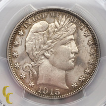 1915-S Silver Barber Half Dollar 50C PCGS Graded Genuine UNC Details (Gr... - $623.65