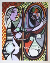 Pablo Picasso Oil Painting Girl before a Mirror Hand-Painted on Canvas 2... - $150.00