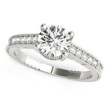 14k White Gold Round Antique Style Diamond Engagement Ring (1 1/8 cttw) - $5,417.31
