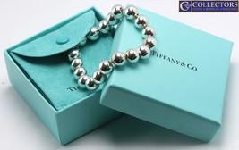 "Ladies Tiffany & Co. 925 Sterling Silver Ball Bead 10.0mm Bracelet 7.25"" 20.3g - $199.95"